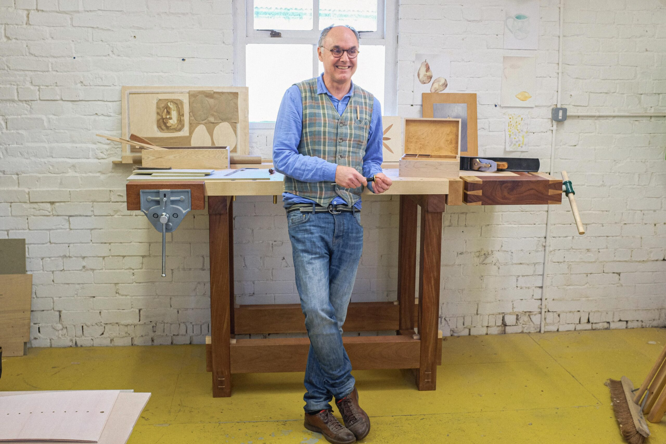 A STUDENT WITH NO PRIOR WOODWORKING EXPERIENCE, AFTER COMPLETING A FINE WOODWORKING COURSE AT ROWDEN ATELIER