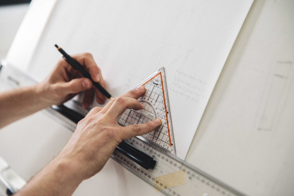 TECHNICAL DRAWING ON A LEARN WOODWORKING COURSE AT ROWDEN ATELIER