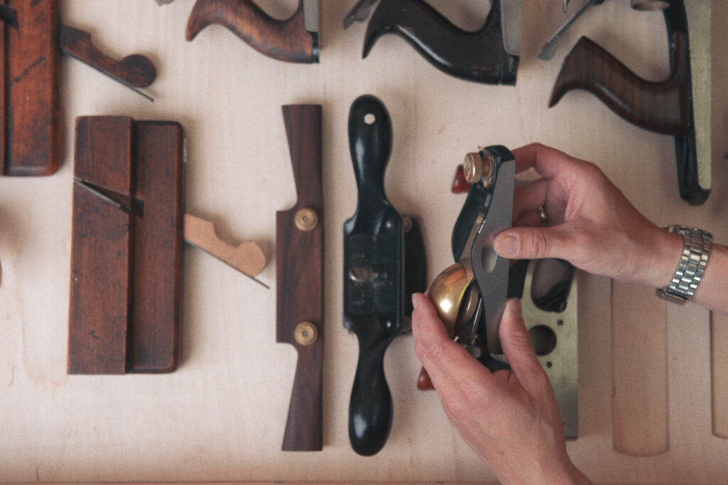 hand tools at Rowden Atelier for furniture making coures.