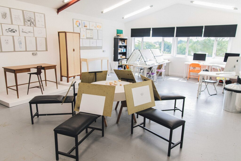 The art room at Rowden Atelier where students partake in a cabinetmaker course