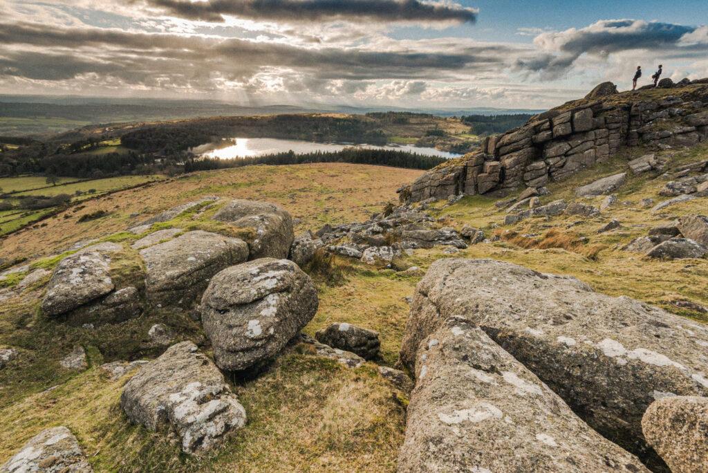 the landscape near Rowden Atelier, Dartmoor National Park in Devon