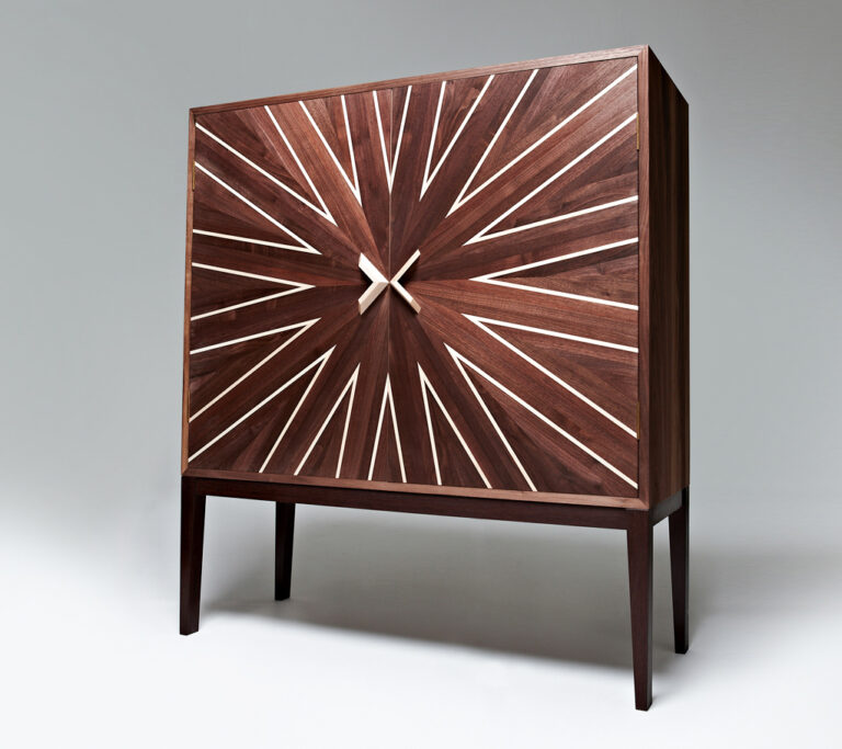 Cabinet made by a student on a furniture making course at Rowden Atelier