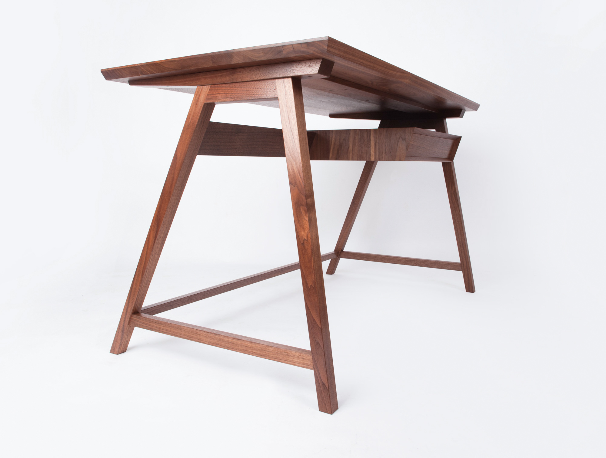 A student made desk, from a woodworking course at Rowden Atelier