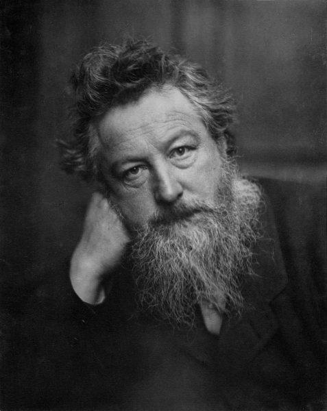 A portrait photograph of William Morris