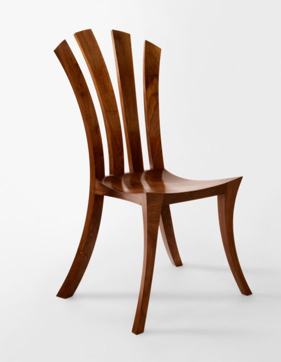 a chair made on our woodworking courses at Rowden Atelier